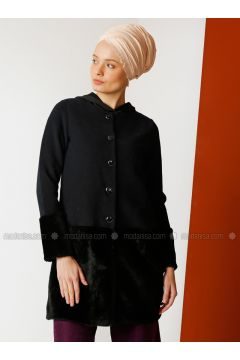Navy Blue - Unlined - Crew neck - Cotton - Jacket - Meryem Acar(110327068)