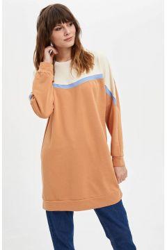 DeFacto Kadın Renk Bloklu Uzun Sweatshirt(125920874)