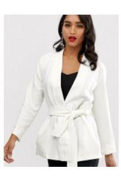 Closet - Kimono-Jacke mit Bindegürtel - Weiß(91277455)