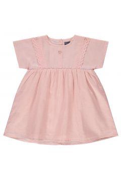 Kleid aus Baumwolle und Leinen mit Spitzendetails(113867719)