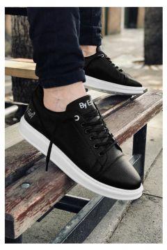 MODA Özel Tasarım Ortopedik Erkek Siyah Taban Beyaz Spor Ayakkabı 2020(110950234)