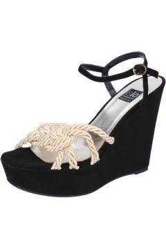 Sandales Islo sandales noir daim beige textile BZ517(115394000)