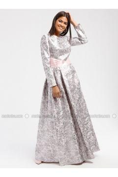 Pink - Multi - Crew neck - Fully Lined - Dresses - DRESSLOVE(110339025)