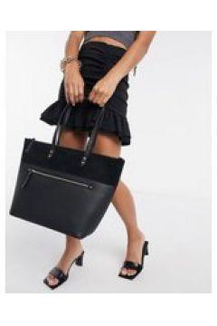 Accessorize - Maxi borsa strutturata con zip anteriore nera-Nero(123406338)