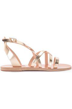 Sandales Ancient Greek Sandals Sandale tongs Delia en cuir platine avec sangle(127856074)