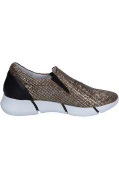 Chaussures Elena Iachi slip on mocassins or glitter noir cuir BT588(115442857)