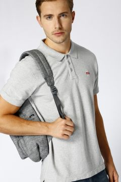 Levis Standard Hm Good Polo Medium Grey Heath T-Shirt(113966039)