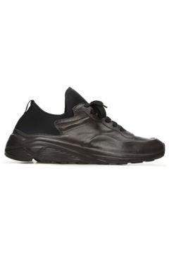 Officine Creative Erkek Siyah Kalın Tabanlı Deri Sneaker Gri 40 EU(122439680)