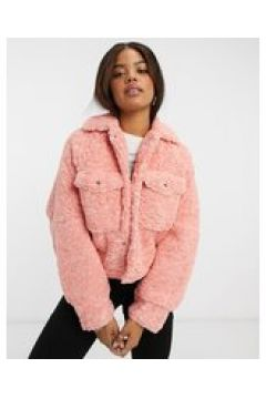 Free People - Giacca effetto peluche rosa(123472976)