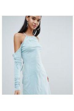 Weekday - Limited Edition - Asymmetrisches Kleid mit hinten überkreuzten Trägern - Cremeweiß(89514715)