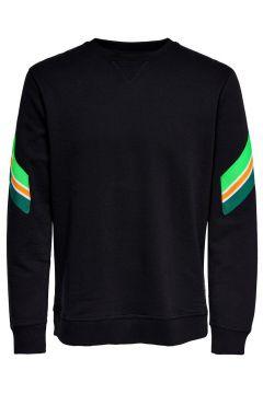 ONLY & SONS Detailreiches Sweatshirt Herren Schwarz(108875280)