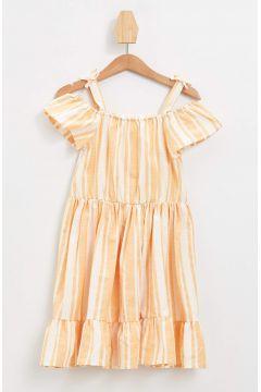 DeFacto Kız Bebek Büzgü Detaylı Çizgili Elbise(119062163)