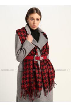 Red - Printed - Shawl Wrap - GINA LOREN(110335060)
