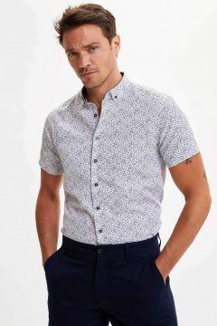 DeFacto Erkek Slim Fit Kısa Kollu Gömlek(119062428)