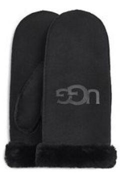 UGG Sheepskin Logo Moufles pour Femmes en Black, taille Petite/Moyenne | Shearling(112238887)