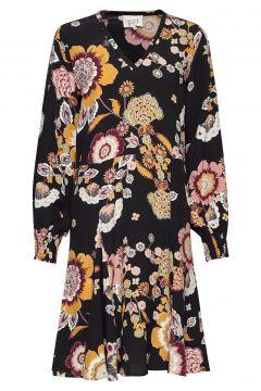 Murial Ls Dress Kleid Knielang Schwarz SECOND FEMALE(114163789)