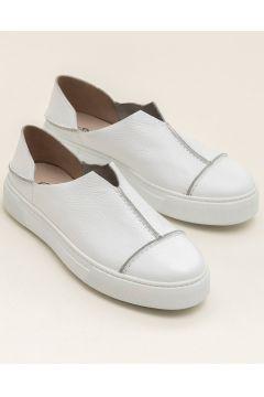Elle Shoes CARINA-1 Hakiki Deri Beyaz Kadın Ayakkabı(118038571)