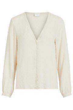 VILA Loose Fit V-hals Overhemd Dames Beige; Yellow(111096984)