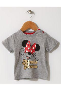 Mammaramma Kız Çocuk Mickey Mouse Baskılı Gri T-Shirt(113968200)