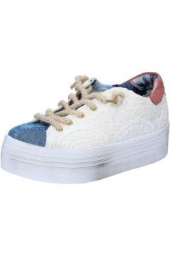 Chaussures 2 Stars sneakers beige textile bleu BZ523(115394004)