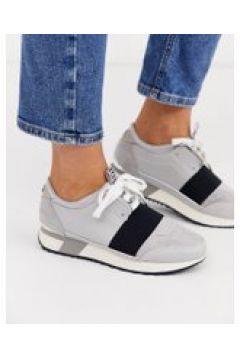 River Island - Sneakers grigio pietra con cinturino nero - Grigio(95040032)
