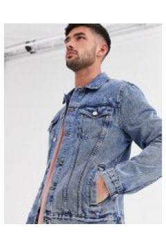 New Look - Giacca di jeans vestibilità classica lavaggio blu medio(120240001)