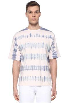 Isabel Marant Erkek Pondy Mavi Beyaz Batik Desenli Basic T-shirt XL EU(109265329)