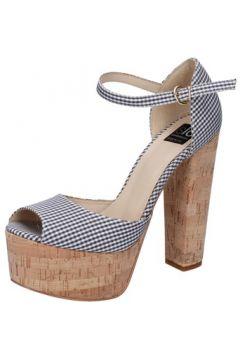 Sandales Islo sandales noir textile blanc BZ223(115393973)