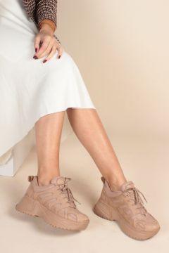 İnan Ayakkabı Süet File Kadın Sneaker(110939906)