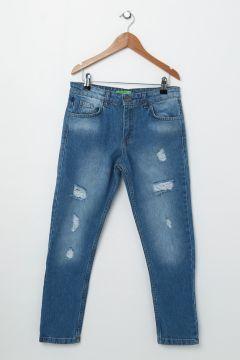 Limon Eskitilmiş Mavi Pantolon(113973903)