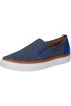 Chaussures Brimarts slip on bleu textile BZ284(115393990)