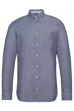 Button Down, Long Sleeve, Stitching Hemd Casual Blau MARC O\'POLO(109200390)