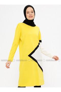 Yellow - Crew neck - Acrylic -- Jumper - PINK APPLE(110333728)