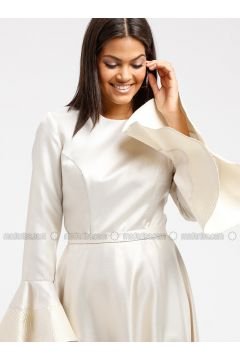 Golden tone - Crew neck - Fully Lined - Dresses - DRESSLOVE(110339027)