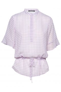 Checks Beatrice Shirt Blouses Short-sleeved BRUUNS BAZAAR(114154741)