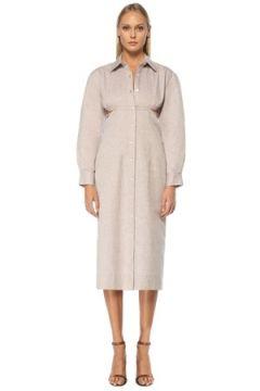Jacquemus Kadın Lila Gömlek Yaka Dekolteli Midi Kokteyl Elbise Mor 34 FR(122583585)