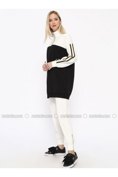 Cotton - Polo neck - Black - Sweat-shirt - Missemramiss(110330913)