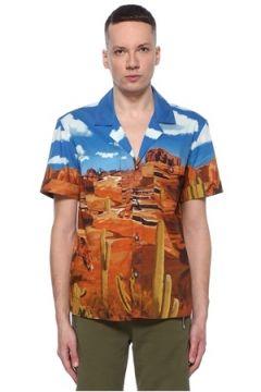Balmain Erkek Colorblocked Kamp Yaka Desenli Cepli Gömlek 4 IT(113464423)