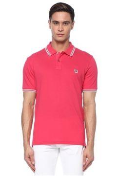 PS by Paul Smith Erkek Pembe Polo Yaka Logolu T-shirt Kırmızı S EU(117578401)