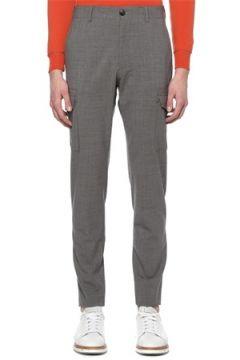Eleventy Erkek Gri Yüksek Bel Dar Paça Yün Pantolon 32 US(108810047)