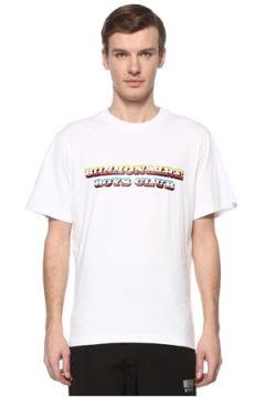 Billionaire Boys Club Erkek Gradient Graphic Kırmızı Logolu Basic T-shirt Beyaz XL EU(108579539)