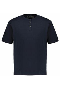 Adamo Fashion: T-Shirt mit Serafinokragen, 3XL, Dunkelblau(121717766)