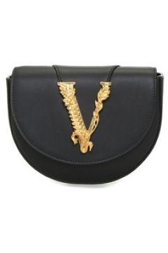 Versace Kadın Virtus Siyah Gold Logolu Deri Bel Çantası EU(109265431)
