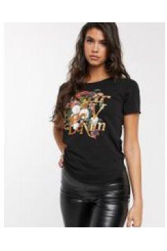 G-Star - T-shirt nera con logo-Nero(112345762)