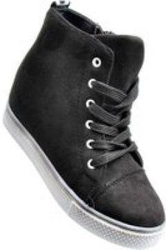 Pantofelek24.pl | Dziewczęce sneakersy na niskim obcasie CZARNE(112082452)