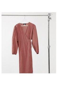 Daisy Street Plus - Vestito a portafoglio con gonna al polpaccio a quadri vintage-Arancione(123404838)