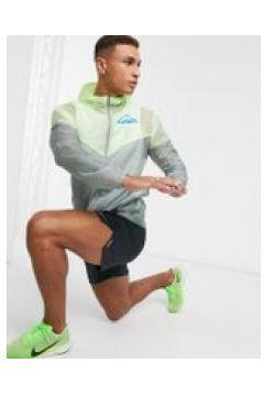 Nike Running Trail - Giacca con logo e zip grigia-Grigio(121193634)