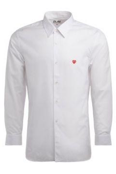 Chemise Comme Des Garcons Camicia Comme Des Garcons PLAY in cotone bianco con mini cuore(101809644)