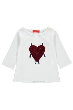 T-Shirt mit Herz aus Pailletten(112328233)