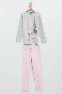 DeFacto Kız Çocuk Frozen Baskılı Pijama Takımı(108642418)